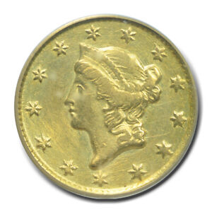 1851-C G$1 Gold Dollar PCGS Cleaned
