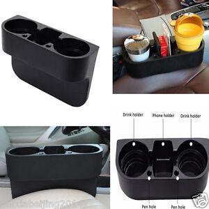 1x Car Truck Tan Brown Universal Black Cup Holder Drink Beverage Seat Gap wedge