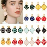 Charm Bohemian Dreamcatcher Earrings Handmade braid Ethnic Women Jewelry Party