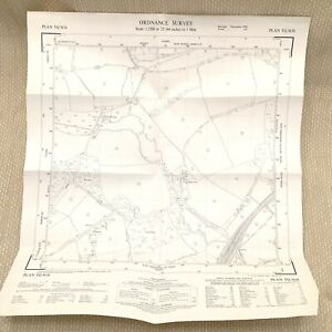 1958 Vintage Map of West Sussex Fen Place Mill East Grinstead Furzewood Farm