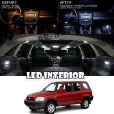 For 95-01 Honda CRV CR-V White LED Full Package Map Dome Trunk License Plate 8pc