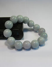 Natural Grade A  jade 10 mm beaded stretchy bracele(14 beads)