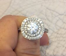 Engagement Ring Size 7 Sterling Silver And Cubic Zirconia
