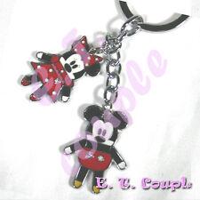 2PC Mickey Minnie adorable Love pook a looz phone strap classic Disney keychain