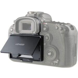 LCD Bildschirm Hood Sonnenschutzblende Gegenlichtblende für Canon EOS 7D