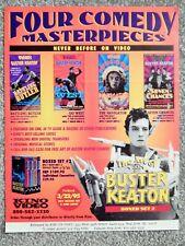 BUSTER KEATON: GO WEST / 7 CHANCES / BATTLING BUTLER (1995 DEALER BROCHURE)