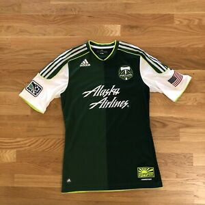 Portland Timber's Adidas MLS No Pity Soccer Men's Jersey Shirt Size Medium Slim