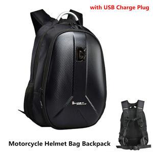 Motorcycle Backpack Tank Bag Carbon Fiber Color Motorbike Helmet Bag Luggage Bag