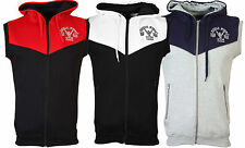 Muscle Gym London Contrast Sleeveless Hoodies Mens Training Gillett Fitted