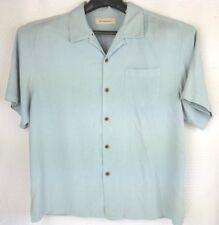 Tommy Bahama Mens Shirt X Large Tall Short Sleeves Textured 100% Silk