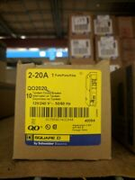 Square D QO2020 (10 Pack) 20/20A Tandem Circuit Breakers  BRAND NEW w Warranty