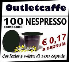100 CAPSULE CIALDE CAFFE' NESPRESSO 100% COMPATIBILI MISCELE MISTE OFFERTA PROMO