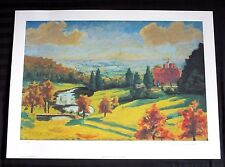 """Sir Winston Churchill """"View From Chartwell"""" Kent England Facsimile Signed art"""