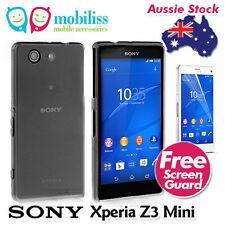 Dark Grey TPU Jelly iSkin Case for Sony Xperia Z3 Compact/Z3 Mini+Screen Guard