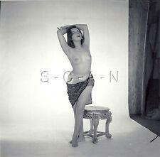 Original Vintage 1960s Amateur Artistic Studio Nude RP- Sheik Woman Looks Up