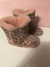 Uggs Infant Leopard Boots Shoes Girls Size 2/3