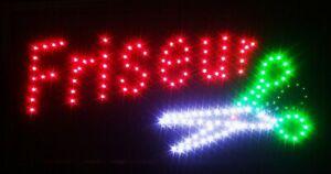 Friseur LED Schild Leuchte Display Leuchtreklame Reklame Leuchtschild Werbung