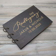 Personalized Wedding Guest Book Engagement Guestbook Anniversary Rustic Album