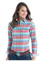Panhandle Slim Women's Multi Color Plaid Button Up Western Shirt R4B9408