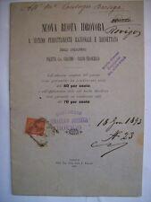 IDROVORA DITTA CONSORZIO IDRAULICO FRANCOBOLLO 2 CENTESIMI 1893 (n10-3-4  )