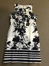 Ladies New Capture Navy And White Floral Dress Size 16