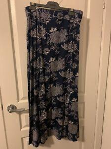 Sunny Girl Navy Printed Maxi Skirt Size XL
