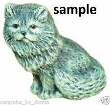 Persian 3 inch cat KITTEN Sitting UP READY TO PAINT CERAMIC BISQUE Handmade