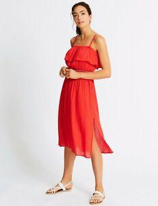 M&S Cotton Rich Bardot Beach Dress Size 22 BNWT