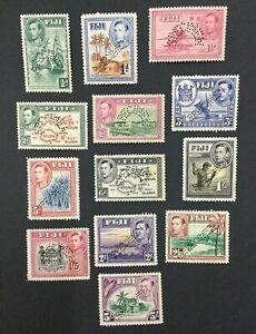 MOMEN: FIJI SG #249s/266s SPECIMEN 1938 MINT OG H LOT #191839-362