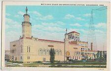 Old SHENANDOAH Iowa Ia Postcard MAY'S KMA STUDIO Broadcasting Station