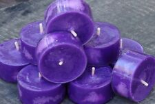 10pk 120 hour PURPLE MAUVE SCENTED Natural SOY TEA LIGHT CANDLES WEDDING & PARTY
