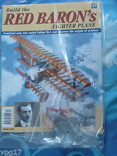 BUILD THE RED BARON'S FIGHTER PLANE FOKKER DR1  HACHETTE  ISSUE 17  NEW SEALED