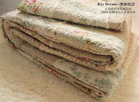 1 PC Delicate Queen Size Coverlet Bedspread Quilt + 2 PCS Pillowcase Style F002