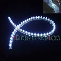 "2x 48CM 19"" 48LEDs PVC 12V CAR TRUCK FLEXIBLE DRL DRIVING LED STRIP GRILLE LIGHT"