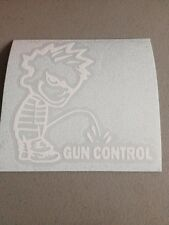 Piss On Gun Control Vinyl Die Cut Decal, Pro Gun, Window, Laptop,Car,Truck,funny