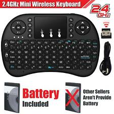 Mini 2.4G Wireless Keyboard Fly Air Mouse Touchpad For Smart TV Box PC + Battery