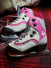 Ccm Jamie Girl Brand Girls Pink & Gray Size 3 Ice Skates