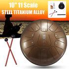 10'' Bronze Steel Tongue Drum Handpan Drum Tank Drum Percussion Instrument Gift