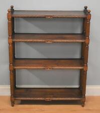 Mahogany Freestanding Open Bookshelves