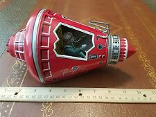 vintage tin friction powered spaceship friendship 7 made in Japan tin toy lot SH