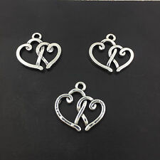 Jewelry Findings Charms Pendants Tibetan Silver Double Heart 15PCS 19mm