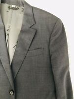 BURBERRY LONDON Grey Wool Slim-Fit Jacket 42 L Sport Coat Blazer Made in Italy