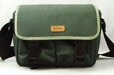 @ U-$50 w/ Shipping! @ Vintage Sigma Green Fabric Camera Bag w/ Acc Compartments