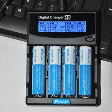 LCD EU Adapter Ladegerät Charger für 3.7V 4 x 18650 Li-ion Akku Batterie Battery