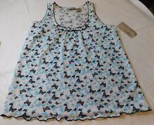 Allyson Whitmore Intamates womens Sleep Shirt PJ Top S small Butterflies NWT