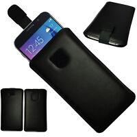 MX ECHT LEDER Slim Cover Case Schutz Hülle Tasche für Cubot Note Plus SCHWARZ