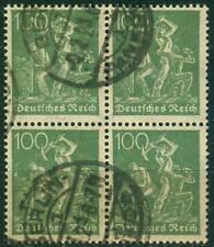 Deutsches Reich 187c Viererblock  , o , geprüft Infla