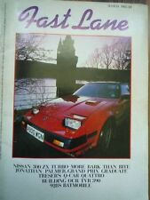 FAST LANE MAR 1985 Nissan 300ZX Turbo Ford Orion Janspeed Rover SD1 V8 Volvo 760