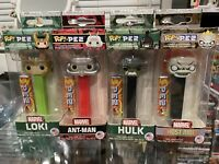 Funko Pop PEZ Marvel Ghost Rider, Loki, Ant-Man  & Hulk Lot Of 4 Collector NEW!