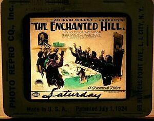 """THE ENCHANTED HILL"", 1926 , ORIGINAL COLOR GLASS SILENT MOVIE SLIDE"